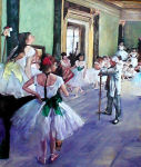The Dance Class After Degas